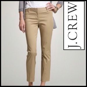 J.Crew City Fit Stretch Trouser in Khaki. Classic.